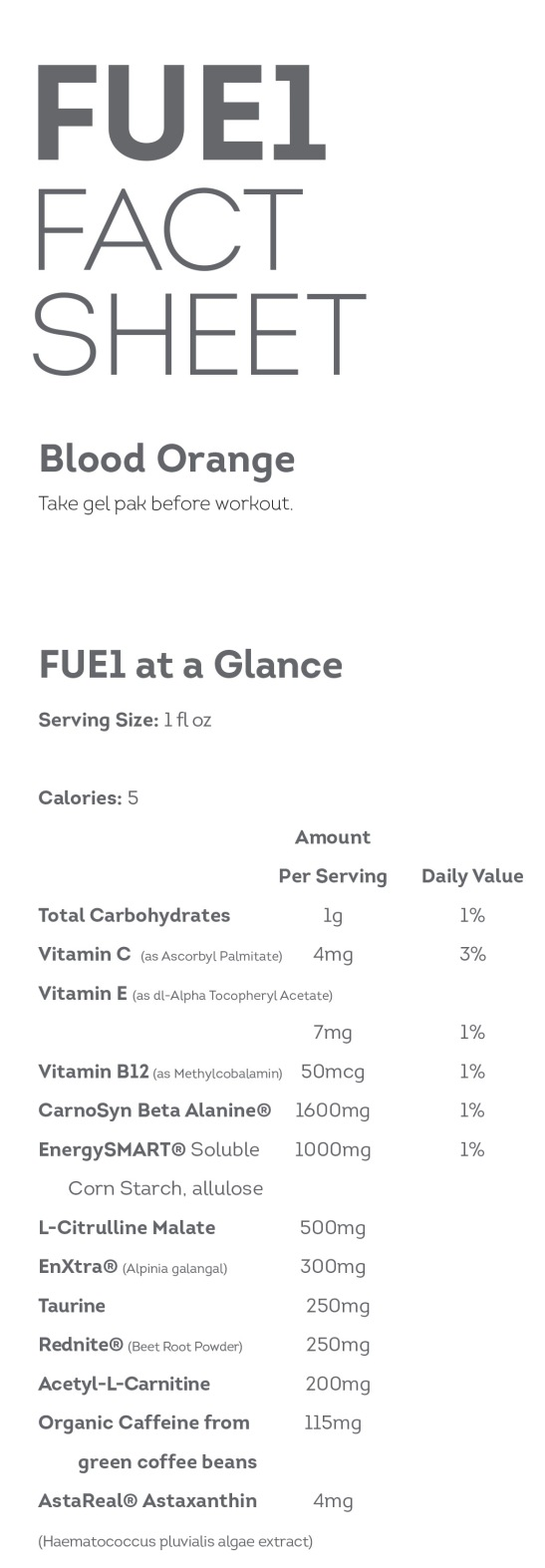 fuel fact sheet