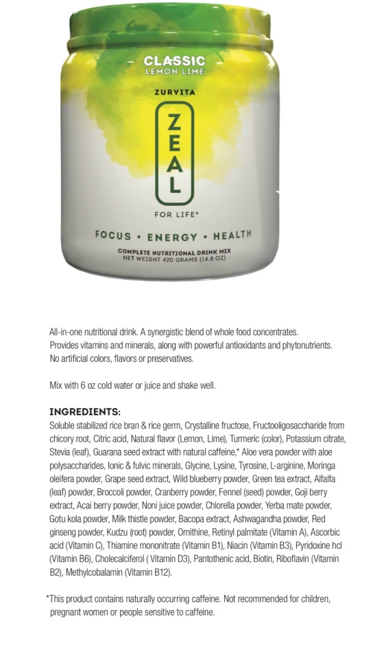 Lemon Lime Nutritional Drink comes is Classic Formula